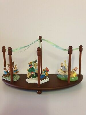 🎠 AVON WONDERLAND CAROUSEL and FIGURINES - SIGNED by KATHY JEFFERS - 1993