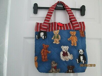 New Handmade Quilted Tote Bag - Teddy Bear Print Fabric