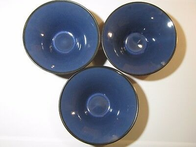 Set of 3 Gabbay Gibson Salad Soup Cereal Bowls Ocean Fusion Blue Gray 7 x 2 1/2""
