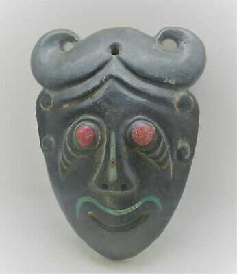 Unresearched Ancient Near Eastern Stone Carved Beast Mask Very Interesting