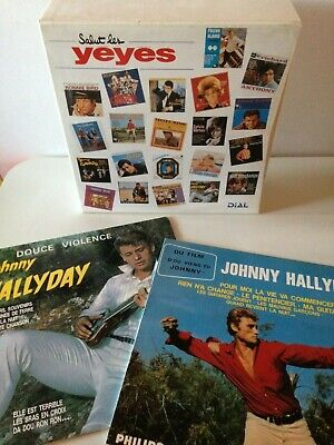 Rare Coffret Reedition Club Dial 25 Lp Chanson Francaise - Johnny Hallyday