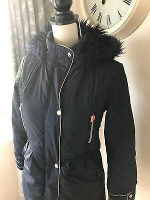 Ted Baker Girls Coat Age 13 Years, Rose Gold Detail