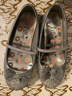 Lilley Sparkle Silver Party Christmas Shoes Size 1 Hardly Worn