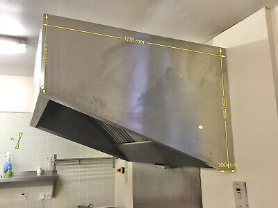 Commercial stainless steel extractor hood