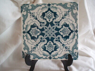 Good Collectable Square Ceramic Glazed Arts&Crafts Style Tile