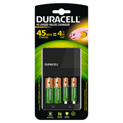 Duracell All In One Charge AA/AAA Battery Charger 4 batteries included