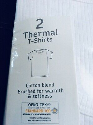 Brand new pack of 2 boys t-shirt style thermal vests, age 12-13 years