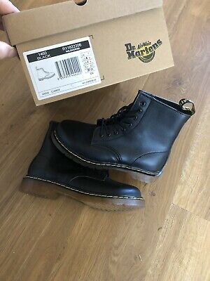 Dr Doc Martens Leather 1460 Ankle Boots Classic Airwair Black Boot UK Size 7