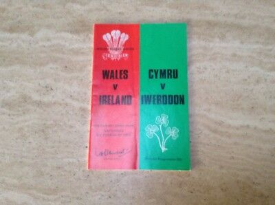Wales V Ireland Triple Crown International Rugby Programme