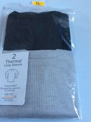 Brand new pack of 2 boys thermal long sleeve tops, age 5-6 years