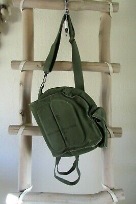 Vietnam Era US Army M17A1 Protective Field Gas Mask Bag Carrier