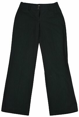 Esprit for Womens Wide Leg Square Pants Trouser Size UK-10 Dark Grey Pinstriped