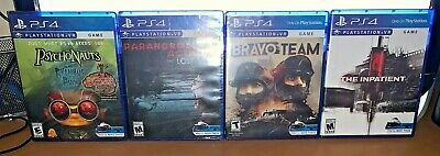 Psychonauts Paranormal Activity Bravo Team The Inpatient PS4 VR Games Brand New