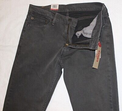 LEVI STRAUSS & CO. Mens 513 Slim Straight Charcoal Gray Jeans NWT Size 32 x 34