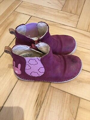 Clarks Girls Pink Maroon Bunny Zip Boots Size 6F