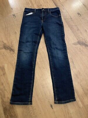 Gap Boys Standard Stretch Slim Dark Blue Jeans Age 10 Regular