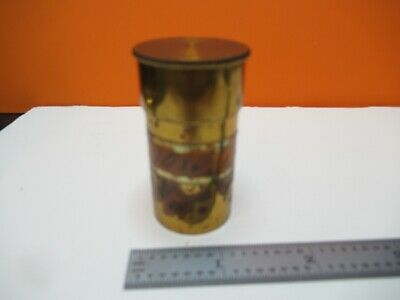 """Antique Empty Brass Objective Can """"D"""" Zeiss Microscope Part As Pictured &16-B-58"""