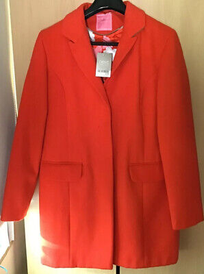 Next Girls BNWT Coral /red Coat Age 15/16 Yrs