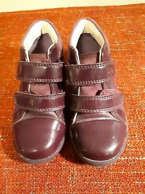 Girls Kids Purple Clarks Air Spring Ankle Boots shoes Size 7.5 F
