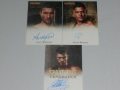 Andy Whitfield/McIntyre/Bennet lotto Autograph 3 Official Card Spartacus leggi