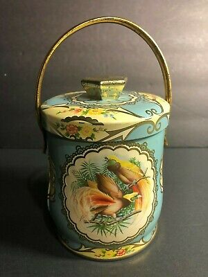 Rare Murray-Allen Confections TROPIC Candy Tin With Lid & Handle Made in England