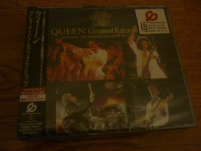 QUEEN GREATEST KARAOKE HITS - JAPAN - 2 disc set New and Sealed