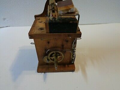 Wooden Plate cuckoo clock movement,Andres y Dworsky Uhren Fabrik 19 century