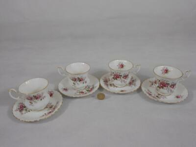 Royal Albert Lavender Rose.Four Coffee Cups & Saucers.