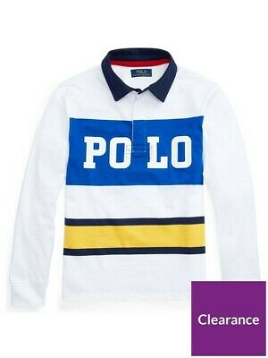 GENUINE Ralph Lauren Boys 6 Yrs Polo Rugby Top White New & Sealed RRP £70