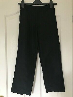 Girl's Black Tracksuit Bottoms Lonsdale Age 9-10 years with side ankle zips