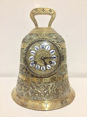 Antique Rare French Gilt Bronze Bell Mantle Clock By Vincenti Et Cie 1855
