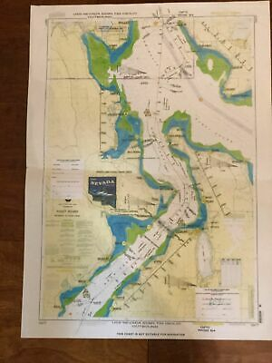 USS Nevada Nautical Map  Puget Sound Entrance to Hood Canal  18477