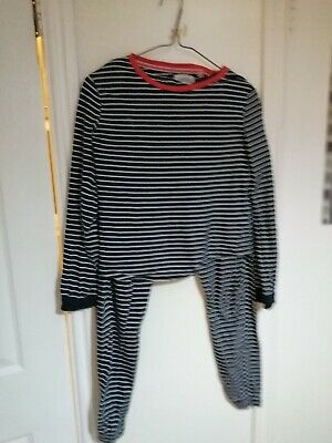 Girls Pyjamas By Next Age 12-13 Navy with white stripe