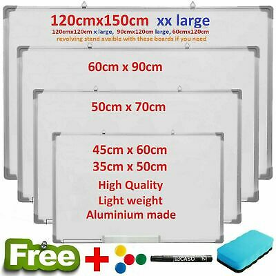 Magnetic Whiteboard Small Large White Notice Board Dry Wipe Office Home School