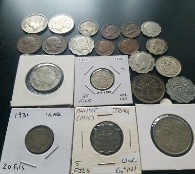 Iraq  Lot Of 21 Coins 1931 1933 1937 1938 and more