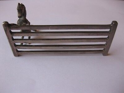 ANTIQUE c1832 THOMAS WILKINSON & SONS PELICANWARE SILVERPLATE HORSE AT FENCE .