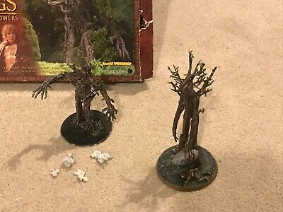 Metal Treebeard and plastic ENT Lord of the rings models warhammer