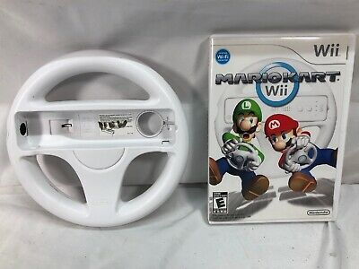 Mario Kart Wii (Nintendo Wii, 2008) With Wheel Complete and Tested
