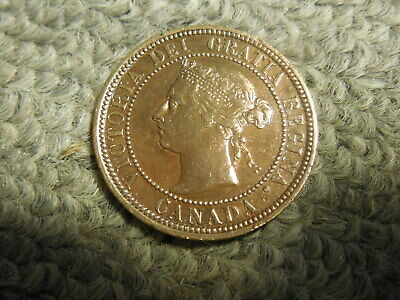 1887 Canadian Large Cent in solid Fine condition.  Nice! But you decide!!!!!!!
