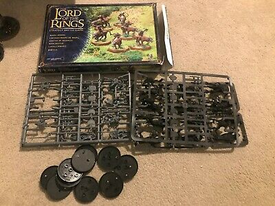 10 Warg Riders warhammer lord of the rings models with bases and box