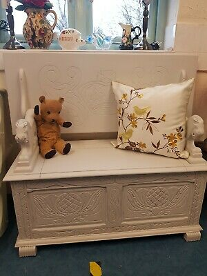 Monks bench settle storage painted vintage