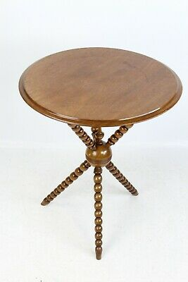 Antique Victorian Mahogany Gypsy Table - Games Poker Card Lamp Tripod Wine Table