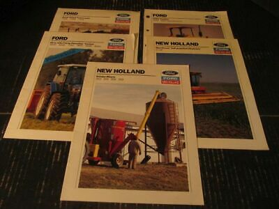 Ford New Holland Tractor & Farm Implement Sales Brochures Lot of 6 Original