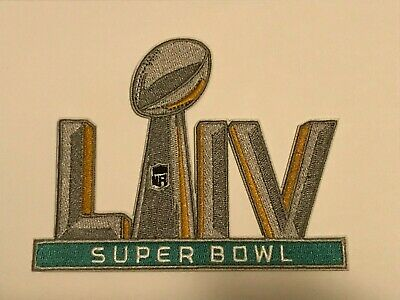 "SUPER BOWL 54 PATCH LIV 5"" Embroidered Patch Iron On/Sew On 2/2/2020 Chiefs 49er"
