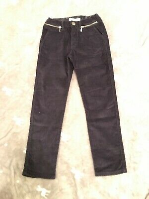 Girls Zara Navy Blue Super Soft Moleskin Velvet Trousers Jeans 7yrs NWOT
