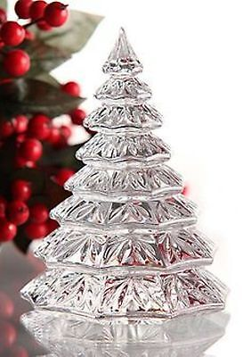 """Waterford Christmas Tree Sculpture Crystal Clear 6.5""""  NIB  Heavy Solid"""