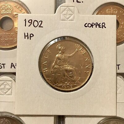 1902 Edward Vii Half Penny In Near Mint Condition.