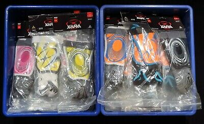 Lot Of 27 Pairs Xara XG1 Shin Guards, Brand New With Tags, Size XXS, Ages 5-6.