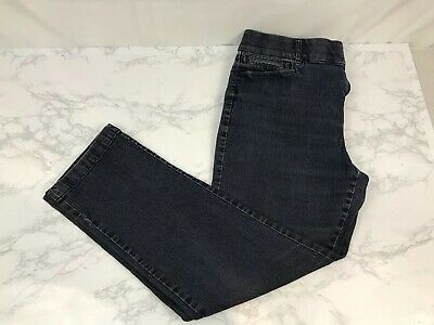 JM Collection Ankle Jeans Womens 10 Skinny Elastic Waistband Stretch Dark Wash K