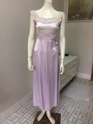 Original Vintage 40s Night Dress,Nightie Gown ,Lingerie, Lilac ,Pinup Burlesque
